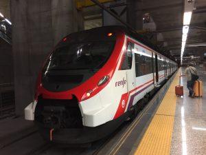 バラハス国際空港から出るLenfeの地下鉄