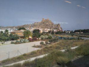 車窓から見えるペトレル城
