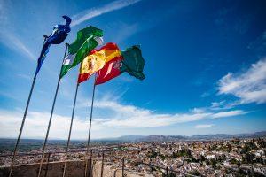 アルカサバ・ベラの塔。グラナダが一望できます。